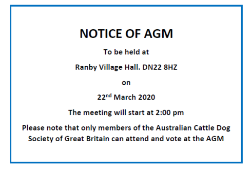 2020 Notice of AGM